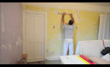 Hanging Wallpaper with Paste