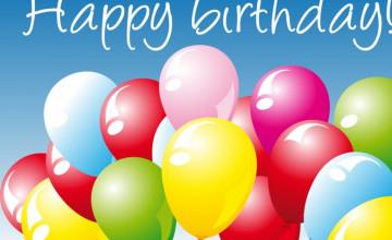 Happy Birthday Balloons Wallpaper