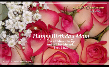 Happy Birthday Mom Wallpaper