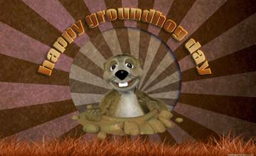 Happy Groundhog Day Wallpaper