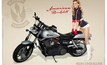 Harley Davidson Pin Up Wallpaper