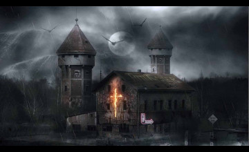 Haunted House HD Wallpaper