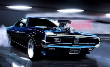 HD Wallpaper of Muscle Cars
