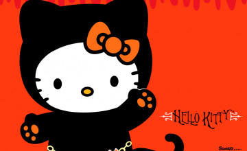 Hello Kitty Halloween Desktop Wallpaper