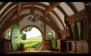 Hobbit House Wallpaper