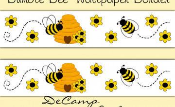 Honey Bee Wallpaper Border