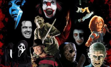 Horror Movie Icons Wallpaper