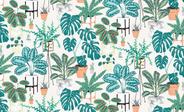 Houseplant Wallpaper