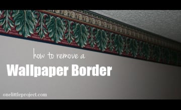 How to Remove Wallpaper Border