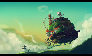 Howl\'s Moving Castle HD Wallpaper