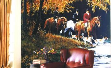 Hunt Scene Wallpaper Mural