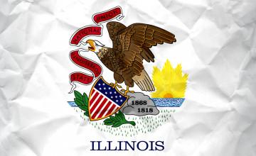 Illinois Flag Wallpaper