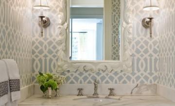 Imperial Trellis Wallpaper Soft Aqua