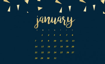 January 2018 Calendar Wallpapers