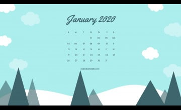 January 2020 Calendar Wallpapers