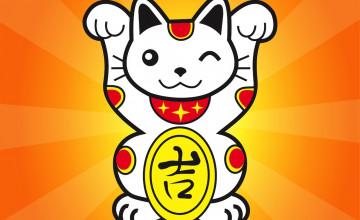 Japanese Lucky Cat Wallpaper