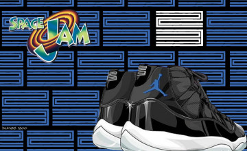 Jordan 11 Space Jam Wallpaper