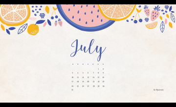 July 2017 Calendar Wallpapers