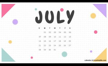 July 2019 Calendar Wallpapers