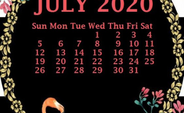 July 2020 Calendar Wallpapers