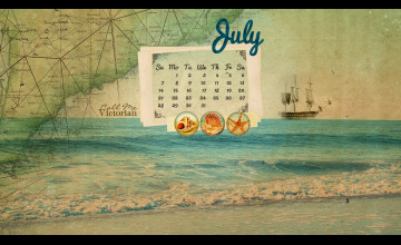 July Calendar Wallpaper
