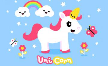 Kawaii Unicorn Wallpaper