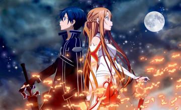 Kirito and Asuna Wallpaper HD