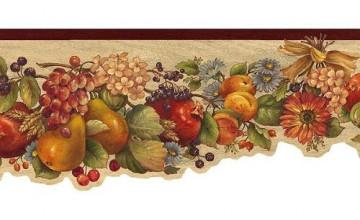 Kitchen Wallpaper Borders Fruit