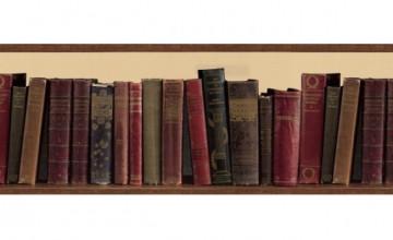 Library Books Wallpaper Border