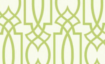 Lime Green Geometric Wallpaper