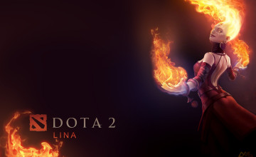 Lina Dota 2 Wallpaper