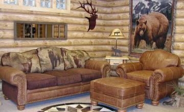 Log Cabin Looking Wallpaper