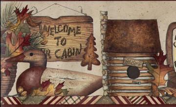 Log Cabin Wallpaper Borders
