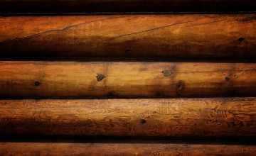 Log Cabin Wood Wallpaper