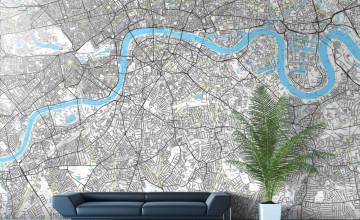 London Map Wallpaper