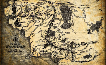Lord Of The Rings Map Wallpaper