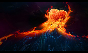 Love Flame Wallpapers