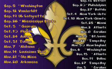LSU Saints Schedule Wallpaper 2015