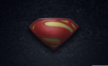Man of Steel Logo Wallpaper