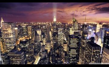 Manhattan at Night Wallpaper