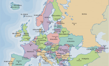 Map of Europe Wallpaper