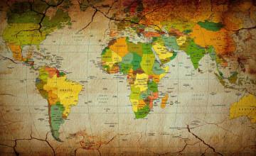Map Wallpaper for Walls