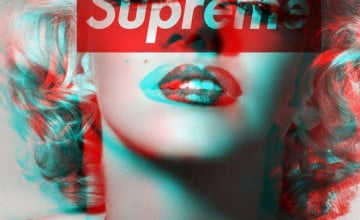 Maralyn Monroe Supreme iPhone Wallpaper