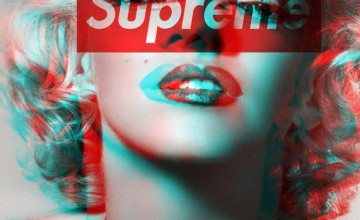 Maralyn Monroe Supreme iPhone Wallpaper