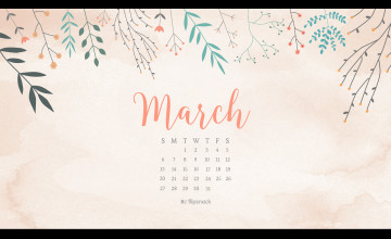 March 2018 Calendar Wallpapers
