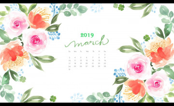 March 2019 Calendar Wallpapers