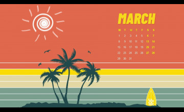 March 2021 Calendar Wallpapers