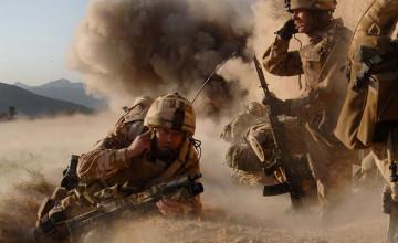Marines in Combat Wallpaper
