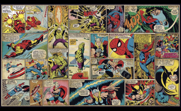 Marvel Comic Strip Wallpaper
