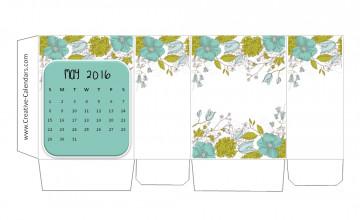 May Calendar 2016 Wallpaper